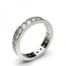 Pave Setting Full Eternity Diamond Ring - HG0645_P24
