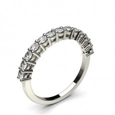 Alliance demi-tour diamant rond semi-sertie 4 griffes - HG0565_P9