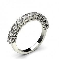 4 Prong Setting Half Eternity Diamond Ring - CLRN47_01