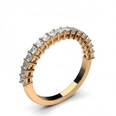 Princess Rose Gold Diamond Eternity Rings