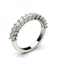 4 Prong Setting Half Eternity Diamond Ring - CLRN47_02