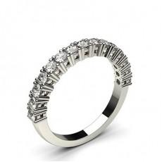Alliance demi-tour diamant rond semi-sertie 4 griffes