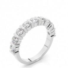 Alliance demi-tour diamant rond semi-sertie barrette - HG0611_15