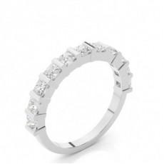 Bar Setting Half Eternity Diamond Ring - CLRN49_02