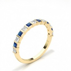Princess Yellow Gold Diamond Rings