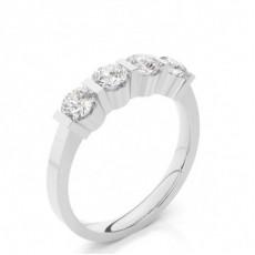 Bar Setting Round Diamond Half Eternity Diamond Ring - CLRN49_06