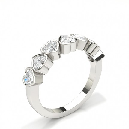 Halb Eternity Diamant Ring in einer Zargenfassung