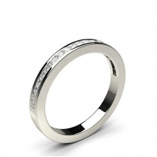 Channel Setting Half Eternity Diamond Ring - HG0615_40