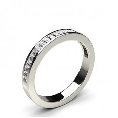 Channel Setting Half Eternity Diamond Ring - HG0570_45