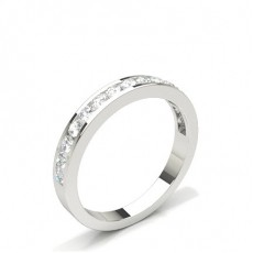 Channel Setting Half Eternity Diamond Ring - HG0565_A24