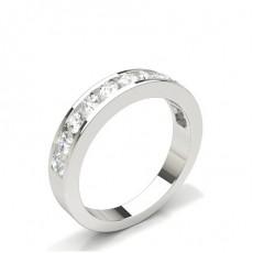 Channel Setting Half Eternity Diamond Ring - HG0553_P40
