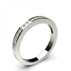 Channel Setting Half Eternity Diamond Ring (Available in 0.25ct.)