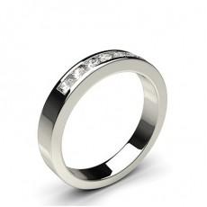 Channel Setting Half Eternity Diamond Ring - CLRN52_01