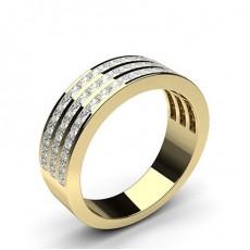 Princess Yellow Gold Diamond Eternity Rings