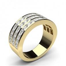 Channel Setting Half Eternity Diamond Ring - HG0588_A14