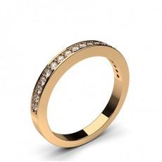 Alliance demi-tour diamant rond semi-sertie pavé - CLRN55_02
