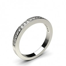 Pave Setting Half Eternity Diamond Ring - HG0604_A34