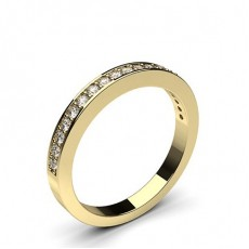 Pave Setting Half Eternity Diamond Ring - CLRN55_02