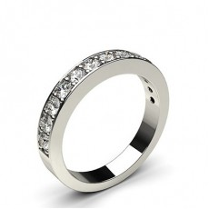 Pave Setting Half Eternity Diamond Ring (Available from 0.15ct. to 1.00ct.)