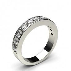 Pave Setting Half Eternity Diamond Ring - HG0666_13