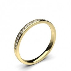 Pave Setting Half Eternity Diamond Ring - HG0604_21