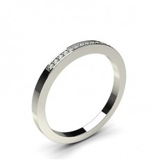 Round Diamond Half Eternity Rings