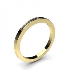 Rond Or Jaune Bague Diamant Noir