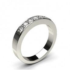 Alliance demi-tour diamant rond semi-sertie pavé - CLRN56_01
