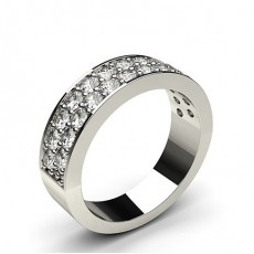 1.05ct. Pave Setting Half Eternity Diamond Ring