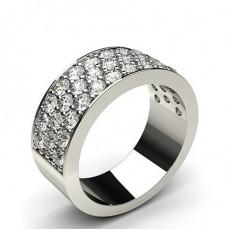 Pave Setting Half Eternity Diamond Ring - CLRN58_01