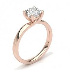 White Gold Round Diamond Engagement Ring - CLRN60_02
