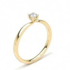 4 Prong Setting Plain Engagement Ring - CLRN60_03