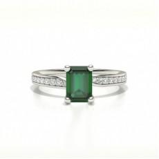 Smaragd Seitenstein Diamantringe
