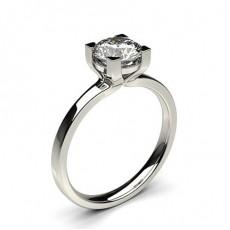 Bague de fiançailles solitaire diamant serti 4 griffes - CLRN61_01