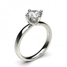 White Gold Round Diamond Engagement Ring - CLRN62_02