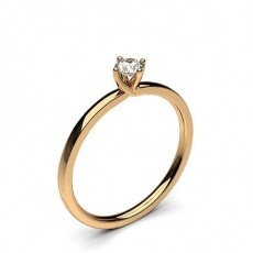 4 Prong Setting Plain Engagement Ring - CLRN62_03