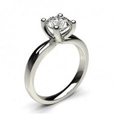 Bague de fiançailles solitaire diamant rond serti 4 griffes - CLRN64_01