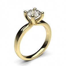 4 Prong Setting Plain Engagement Ring - CLRN64_01