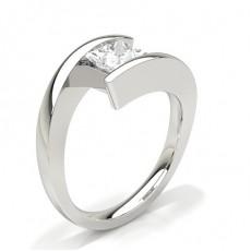 Bague de fiançailles solitaire diamant serti rail - CLRN66_01