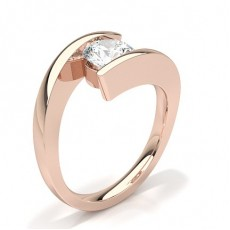 White Gold Round Diamond Engagement Ring - CLRN66_01