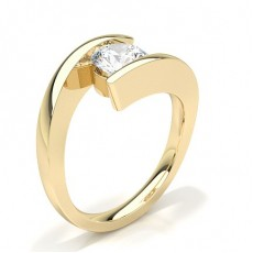 Channel Setting Plain Engagement Ring - CLRN66_01