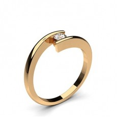 Channel Setting Plain Engagement Ring - CLRN66_02