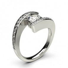 Bague de fiançailles solitaire diamant princesse serti clos