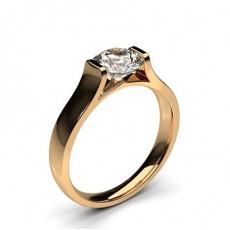 White Gold Round Diamond Engagement Ring - CLRN67_03