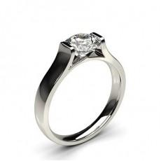 Bague de fiançailles solitaire diamant serti rail