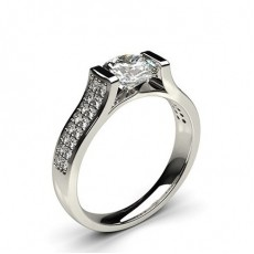 Channel Setting Studded Side Stone Engagement Ring - CLRN67_02