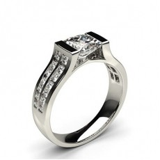 Channel Setting Studded Side Stone Engagement Ring - CLRN67_01
