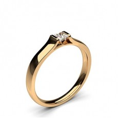 Princess Rose Gold Promise Diamond Rings