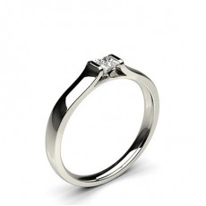 Princess White Gold Promise Diamond Rings