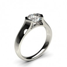 Channel Setting Plain Engagement Ring - CLRN68_02